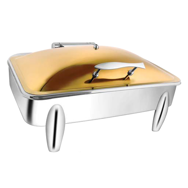 Rectangular Rose Gold Chafer W-Curved Legs