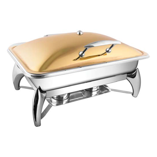 Rectangular Rose Gold Chafer W-Smart Legs
