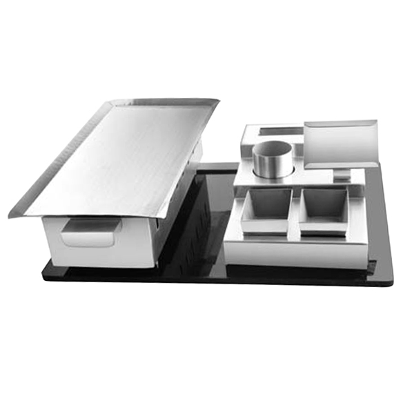Rectangular Snack Warmer Set