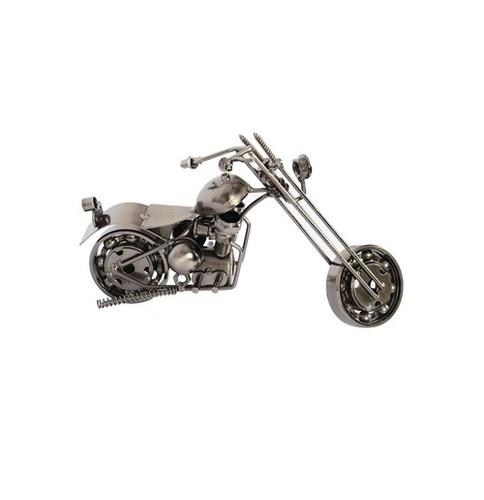 Desi Karigar Scrap Metal Art Long Fork Chopper Handmade Motorcycle Sculpture