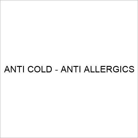 Anti Cold And Anti Allergy Medicine