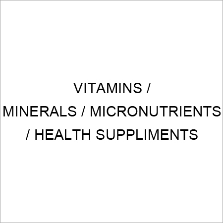 Vitamin,Mineral,Micronutrient & Health Supplements