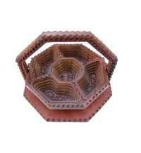 Desi Karigar Handmade Wooden Dry Fruit Spring Tray Kitchen Item Diwali Gift, Dia: 10.5 Inches