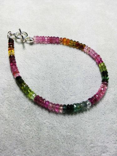 Multi Tourmaline Beads Bracelet