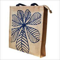 Jute Shopping Bag With Zipper