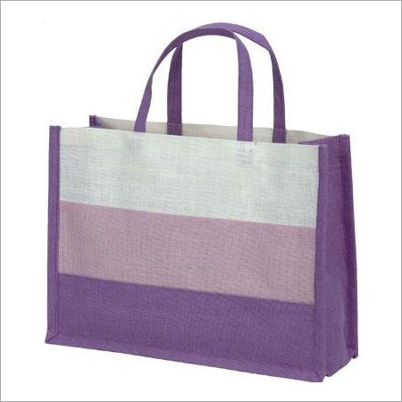 Colored Jute Shopping Bag