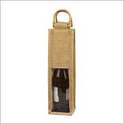 Single Bottle Jute Wine Bag
