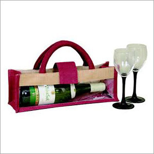 High Quality Jute Wine Bag