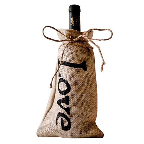 Jute Christmas Wine Bags