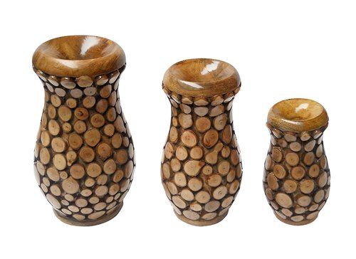Desi Karigar Beautiful Design Flower Vase Set (Set Of 3)