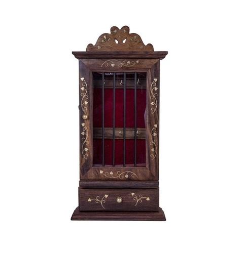 Desi Karigar Wooden Wall Hanging / Mounting Decorative Key Hanger / Holder / Stand / Cabinet