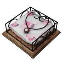 Desi Karigar Wooden Handmade Napkin / Tissue Paper Holder/Stand