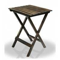 Desi Karigar Multipurpose Solid Wood Folding Table (Walnut Finish)