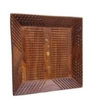 Desi Karigar Wooden Handcrafted Serving Tray In Square Shape Made From Mango Wood