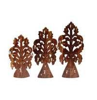Desi Karigar Handmade Wooden Key Hanger Holder Wall Décor - Set of 3
