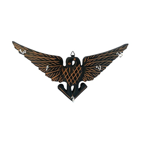 Desi Karigar Handmade Wooden Key Hanger Holder Wall Décor Eagle