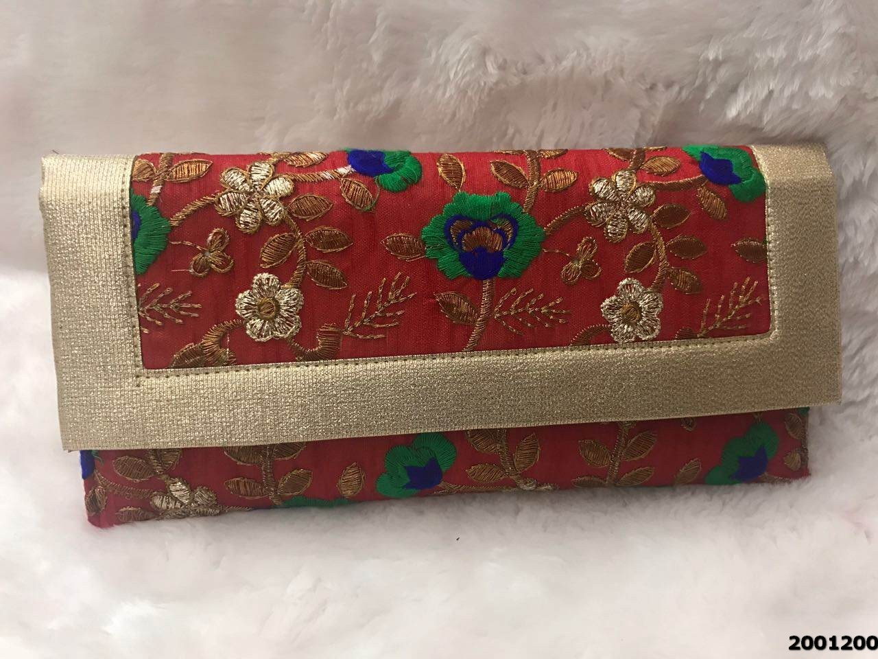 Stunning And Stylish Brocade Evening Clutch Bag