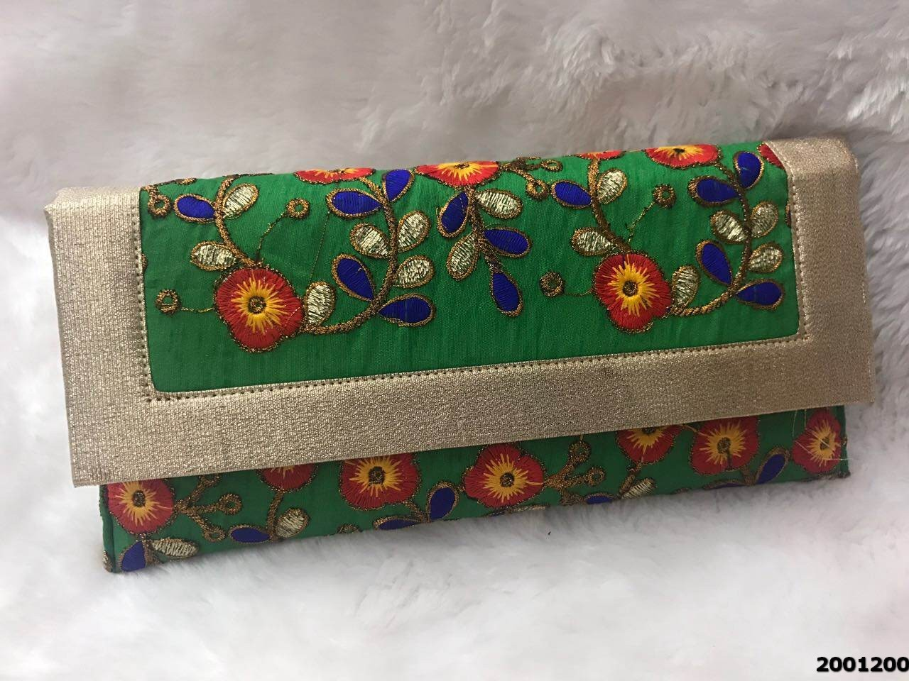 Stunning And Stylish Brocade Evening Clutch Bag