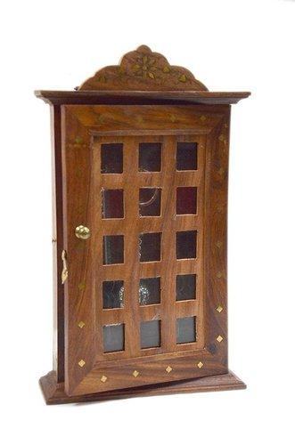 Desi Karigar Wooden Wall Hanging / Mounting Letter Organizer With Key Hooks / Hanger/ Holder/Key Box