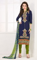 Pink Cotton Stylish Embroidered Suit