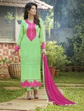 Lukhnawi Peach Stylish Salwar Suit