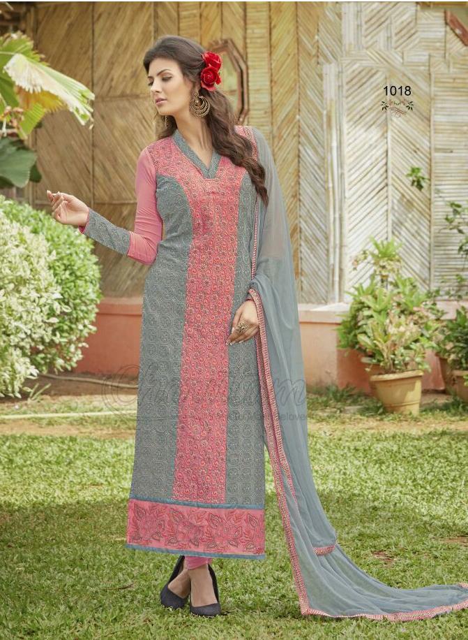 Lukhnawi Peach Stylish Salwar Suit