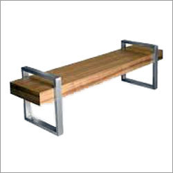 Wooden Bench with stainless steel legs