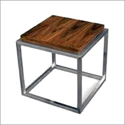 Steel Industrial Side Table Design