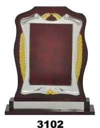 wooden trophy frame