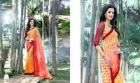Georgette Hand Printed Saree