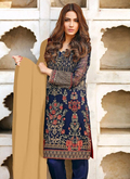 Superb Georgette Blue Plazzo Festival Suit