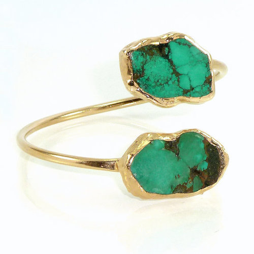 Turquoise Gold Plated bracelet