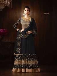 Buy Bold Black Designer Anarkali Suits Online