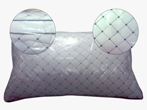 Quilted White Pillow
