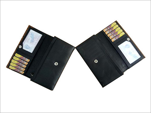 Men Leather Wallet Black