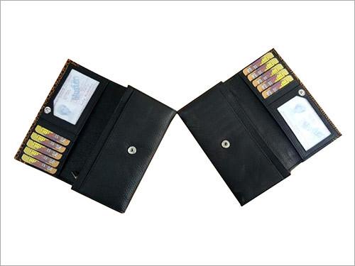 Men Leather Wallet Black