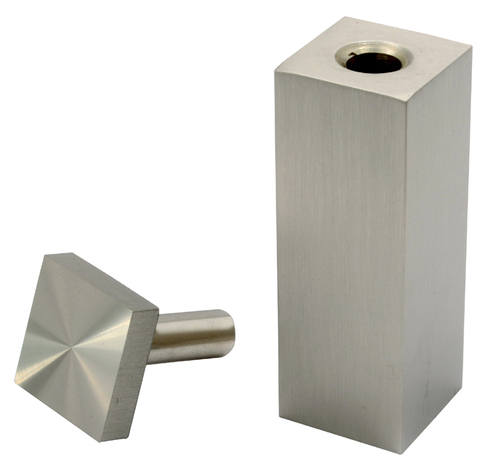 Brass Table Top Square Glass Fittings