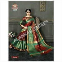 Plain Border Silk Sarees