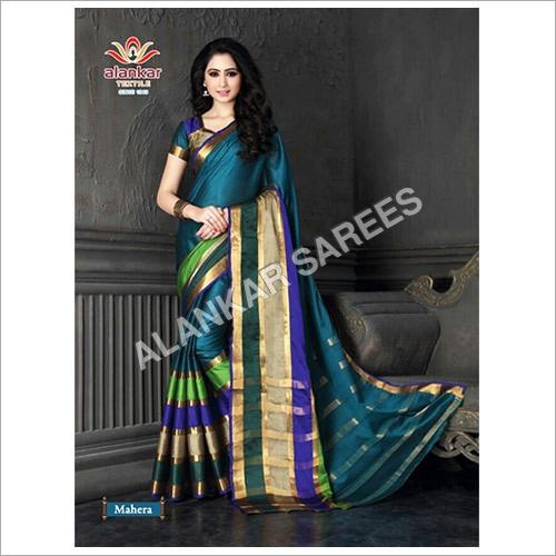 棉花Banarasi丝绸Sarees