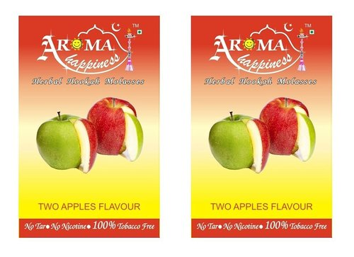 Desi Karigar Aroma Happiness Hookah Flavor - Pack of 2 (Double Apple - 50 g, Double Apple - 50 g)