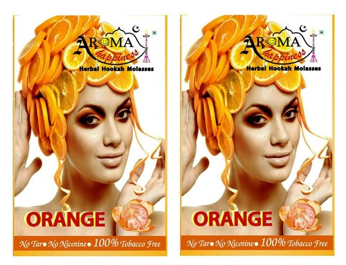 Desi Karigar Aroma Happiness Hookah Flavor - Pack of 2 (Orange - 50 g, Orange - 50 g)