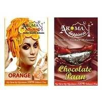 Desi Karigar Aroma Happiness Hookah Flavor - Pack of 2 (Orange - 50 g, Chocolate Paan - 50 g)