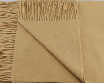 Camel colour blanket