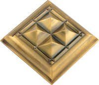 Brass Pyramid Fancy Mirror Cap