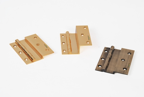 Brass L Hinges With Finishing