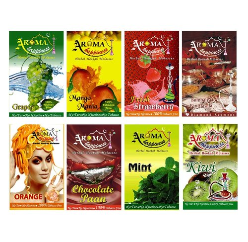 Desi Karigar Aroma Happiness Assorted Hookah Flavor - Pack of 8