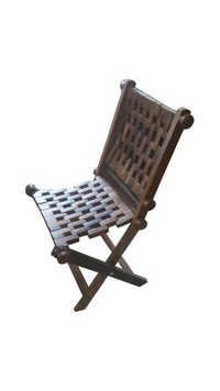 Desi Karigar Wooden Foldable Chair