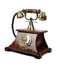 Desi Karigar Rosewood Antique Operational Telephone Maharaja Style