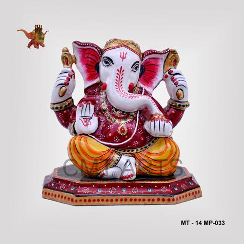 Metal Meenakari Ganesha