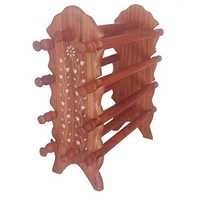 Desi Karigar Sheesham Wooden Bangle Stand (Brown, 8 Rod)